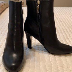 Ivanka Trump black leather bootie